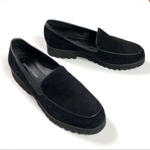 Donald Pliner 'Rad' Black Suede Platform Loafer